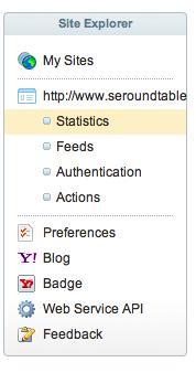 Yahoo site explorer new sidebar
