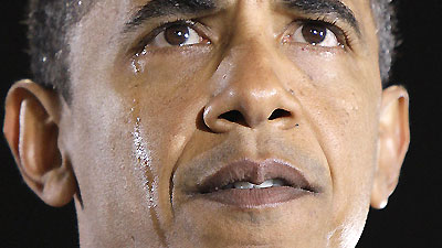 Obama crying after his grandmother passed away. She was 86