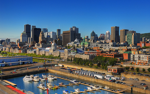 Montreal on a beautiful, sunny day