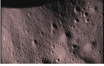 Image of Lunar surface taken by India's Moon Impact Probe