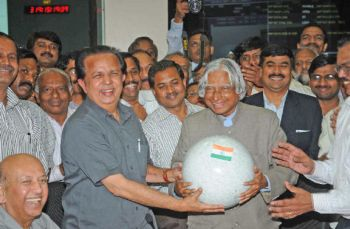 APJ Abdul kalam with Nair on India's Moon mission