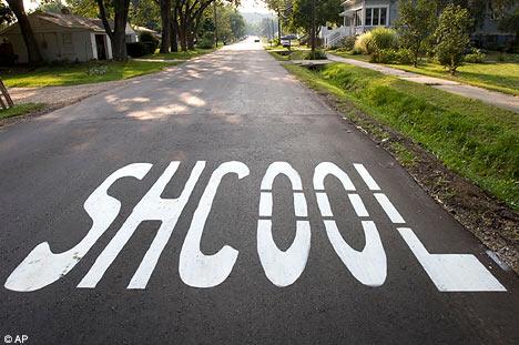 A misspelled road sign