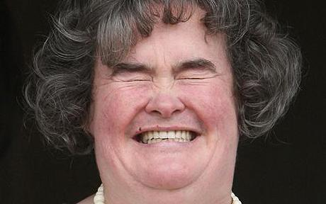 Susan Boyle - Unbrushed hair, lonely, virgin - Best suited to publicity!