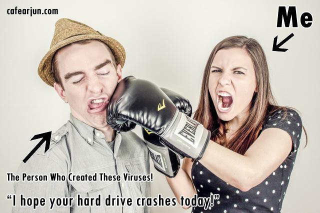 punching the virus maker