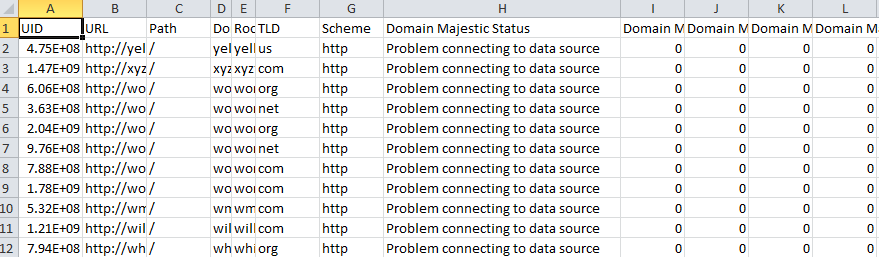 Problem connecting to data source